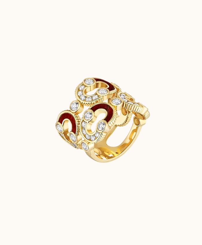 Double Enchainée Ring Semi