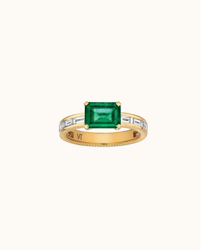 Eclat Emerald Ring
